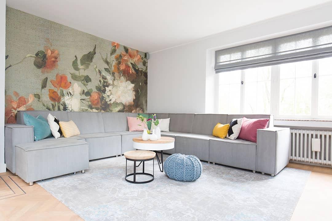 grote ruimtes inrichten - woonkamer